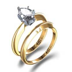 gold engagement rings for oval cut engagement ring wedding set in 14k yellow gold