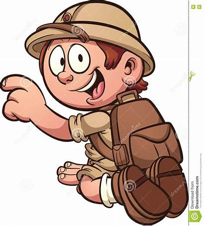Safari Kid Clip Clipart Vector Cartoon Illustration