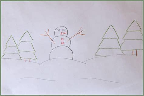 comment dessiner sa chambre comment dessiner un bonhomme de neige cabane à idées
