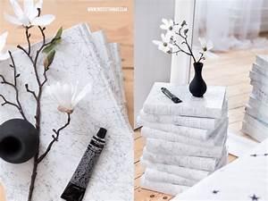 Tisch Aus Büchern : tisch aus b chern diy b chertisch selber machen mit marmor effekt nicest things ~ Buech-reservation.com Haus und Dekorationen