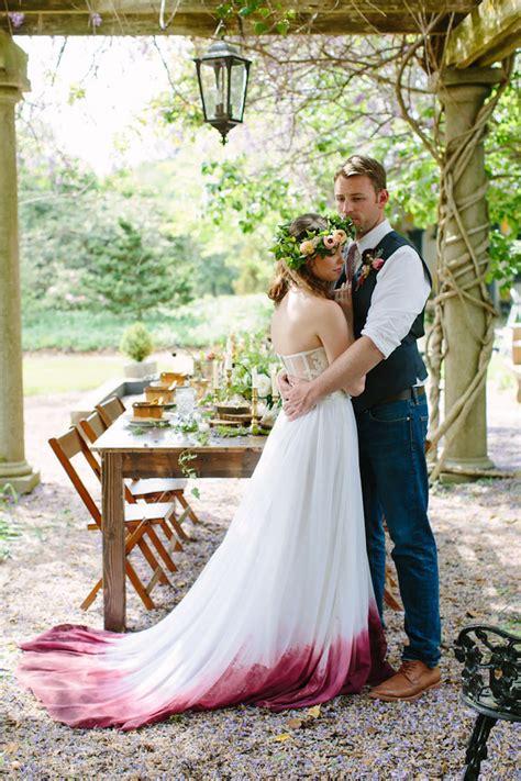 Dip Dye Wedding Dress Bored Panda
