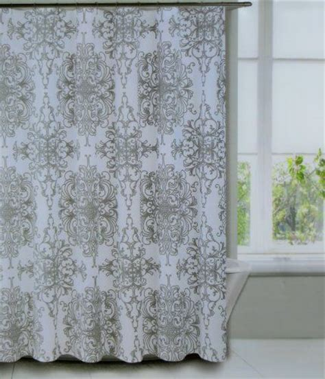 Tahari Home Curtains Blue by Shower Curtain Fabric Tahari Home Milan Scroll Large