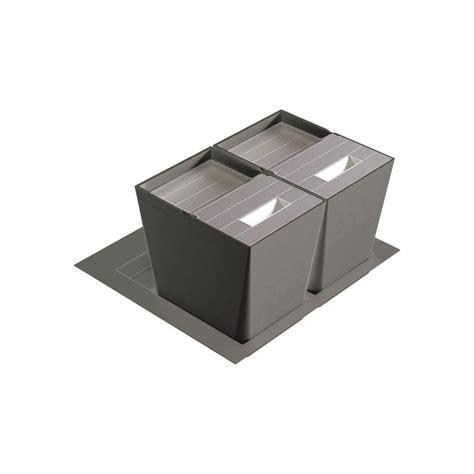 poubelle tiroir cuisine poubelle de cuisine pour tiroir 2 bacs