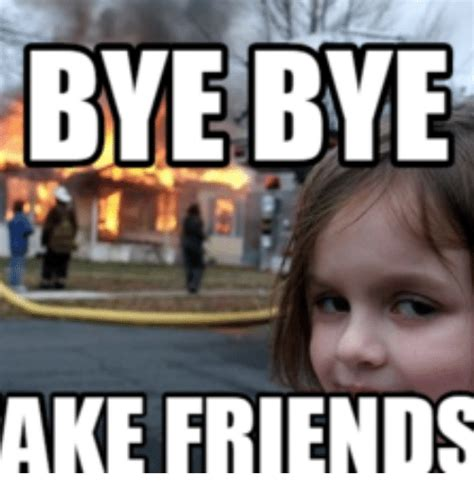 Fake Friends Meme - bye bye ake friends bye meme on me me