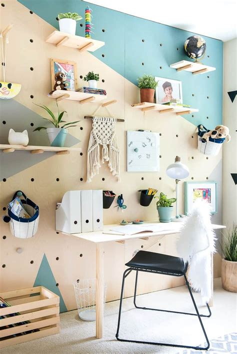 diy plywood pegboard wall  cool  chic awesome