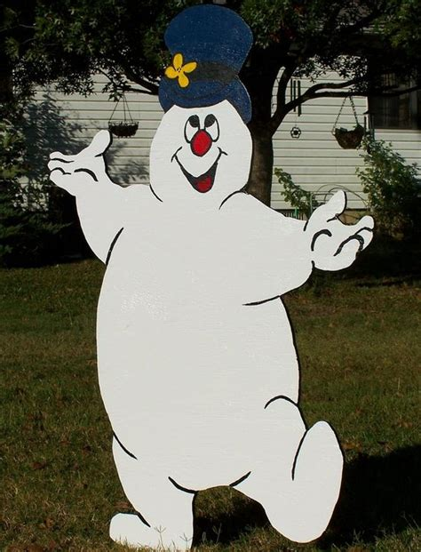 frosty the snowman wood yard art decoration christmas