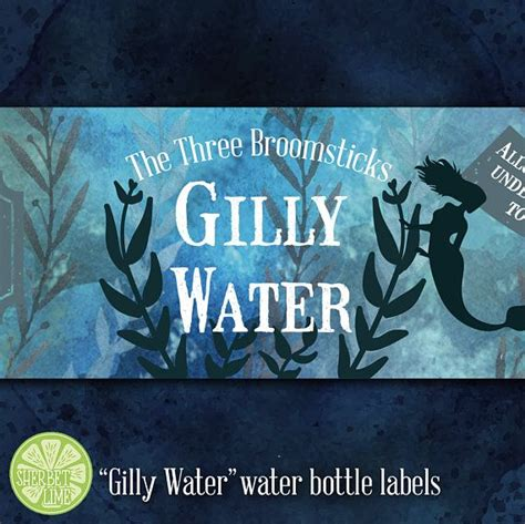 magical gilly water printable water bottle labels