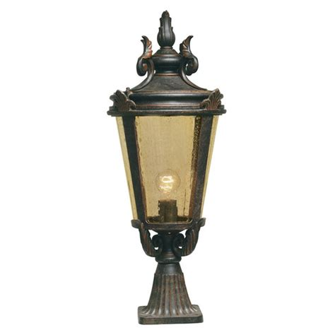 baltimore bt3 l post l outdoor weathered bronze