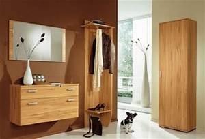 Garderobe Mit Spiegel : garderobe mit spiegel 4 teilig in kernbuche m bel ~ Eleganceandgraceweddings.com Haus und Dekorationen