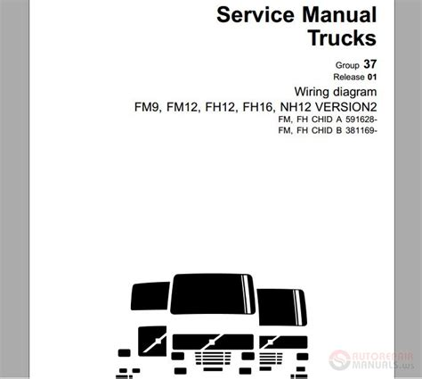 Volvo Fh12 Version 2 Wiring Diagram by Volvo Truck Fm Fh Vers2 A591628 B381169 Service Manual