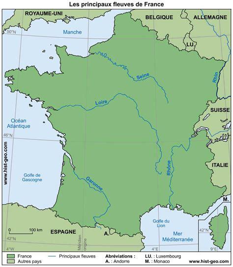 Carte De Avec Villes Fleuves Et Montagnes by Carte Des Fleuves De 187 Vacances Arts Guides Voyages