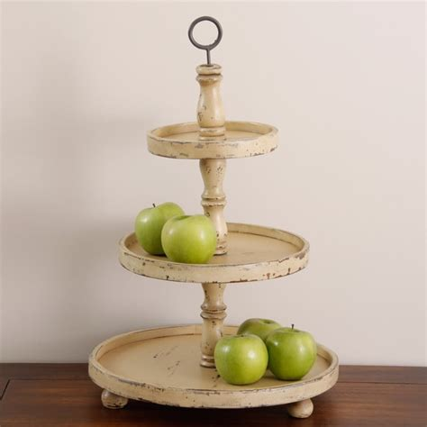 shop handmade antiqued wood  tier fruit stand indonesia  shipping today overstockcom