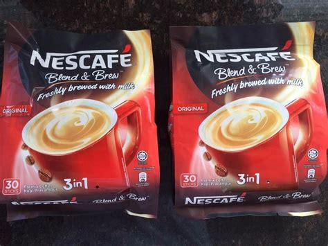 Instant coffee has a finer degree of grind, unlike traditional coffee. Details about 2 NESCAFE 3IN 1 Original/Regular 56ct Instant Coffee (2Packs | Coffee powder ...