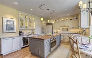 Custom Walnut Wood Kitchen Countertop in Bethesda, Maryland