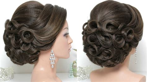bridal hairstyle  long hair tutorial updo  wedding