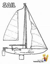 Coloring Pages Sailing Boat Ship Boats Colouring Ships Yacht Boys sketch template