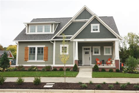 Grey And Taupe Living Room Ideas by Trailside Picturesque Porch Craftsman Exterior