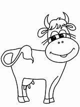 Cow Coloring Cows Vaca Para Pintar Children sketch template