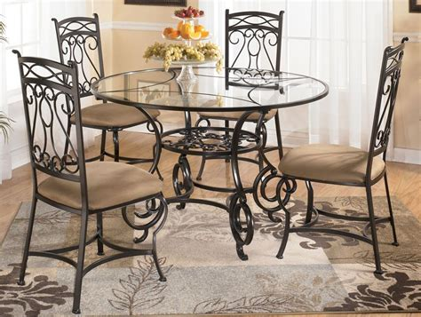 Kitchen Table Sets Glass by Glass Dining Table With Four Chairs By