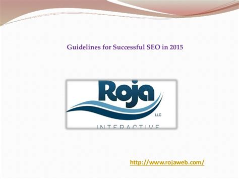 Seo Guidelines by Guidelines For Successful Seo In 2015