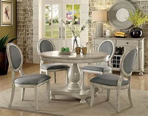 Kathryn, Antique, White, Dining, Room, Set, From, Furniture, Of, America