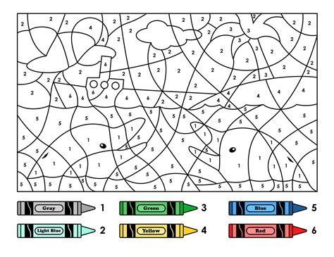 easy color  number  preschool  kindergarten