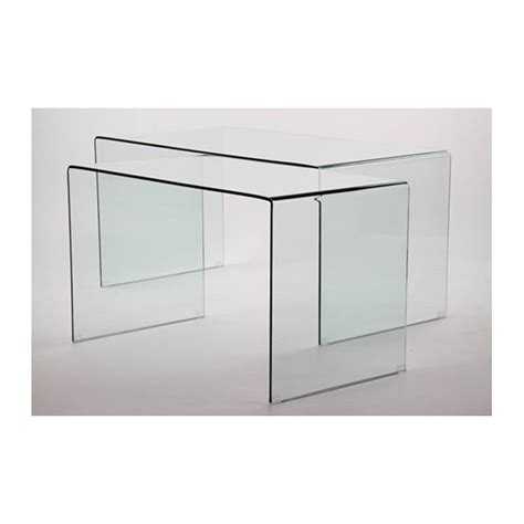table bureau en verre courbé plm design mes887002