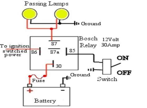 Standard Passing Light Relay Wiring