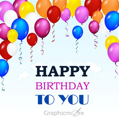happy birthday greeting card design  vector file