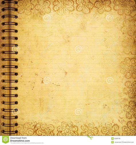 Page From Old Grunge Notebook Stock Illustration
