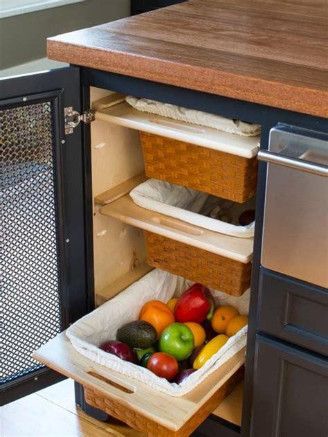 kitchen fruit storage vegetable storage houzz 1745