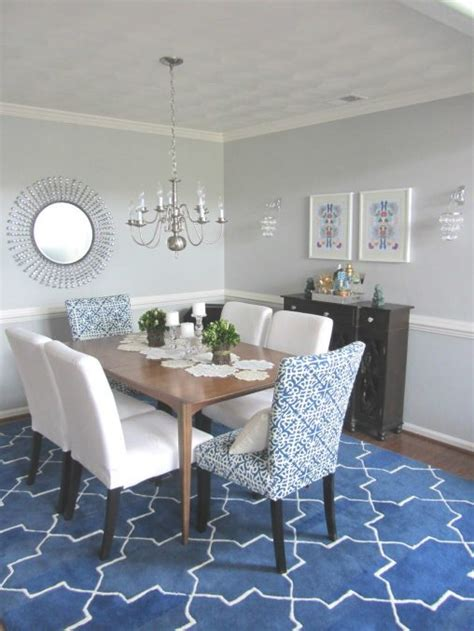 furniture navy blue dining table blue white and yellow
