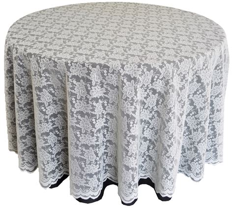Ivory Lace Table Overlays Linens Toppers Round