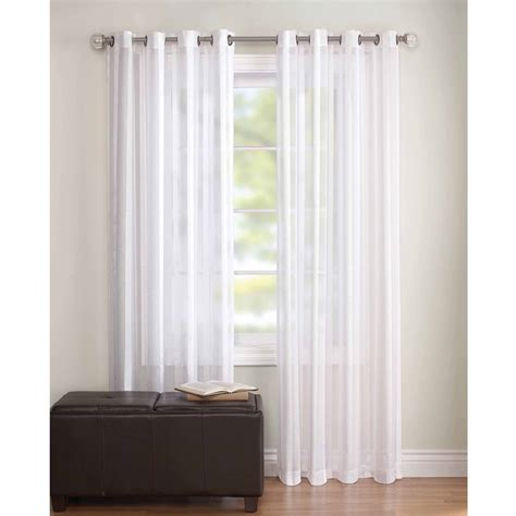 walmart grommet curtain rods better homes and gardens faux silk grommeted window panel
