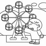Park Coloring Amusement Pages Wheel Worksheet Illustration Vector Getdrawings Kid Drawn Hand Tractor Getcolorings Educational Circle sketch template