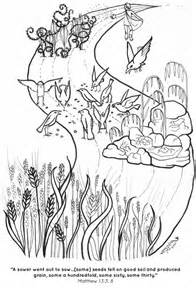 The Parable of Sower Bible Coloring Pages