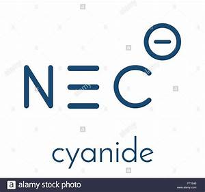 Cyanide Anion  Chemical Structure  Cyanides Are Toxic  Due To Inhibition Of The Enzyme