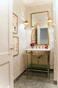 wallpapered bathrooms ideas leopard print cheetah pattern home decor interior design