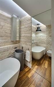 Salle De Bain En Bois : la salle de bain scandinave en 40 photos inspirantes ~ Teatrodelosmanantiales.com Idées de Décoration