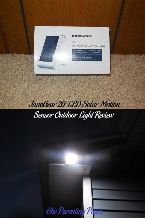 innogear 20 led solar motion sensor outdoor light review