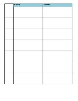 Free Editable Weekly Lesson Plan Template by Editable Weekly Schedule And Lesson Plan Templates By Ell