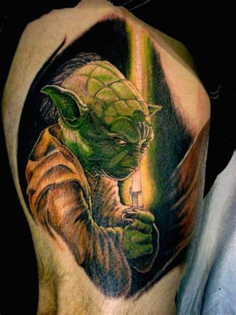 arm fantasy yoda tattoo  tora tattoo