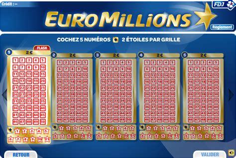 prix de la grille euromillion euromillions des gains en millions avec la fdj