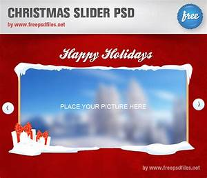 Christmas slider psd template free psd files for Christmas psd templates
