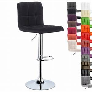Chaise Bar Reglable : 1 tabouret de bar r glable 360 rotation cuisine chaise en similicuir lin f070 ebay ~ Teatrodelosmanantiales.com Idées de Décoration