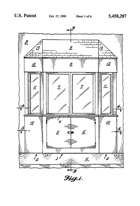 Patent US5458287 - Prefabricated bay window conservatory