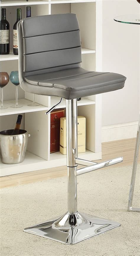 How To Determine Bar Stool Height by Coaster 120696 Adjustable Bar Stool Chrome Grey 120696