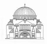 Coloring Synagogue Building Pages Colouring Drawing Template Buildings Drawings Sheets Empire State Printable Wikimedia Sketch Slovakia sketch template