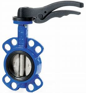 Lever Butterfly Valve - Cast Iron Wafer Body - Low Cost