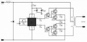 simple 100w inverter circuit 12vdc to 220ac inverter With simple inverter circuit using cd4047